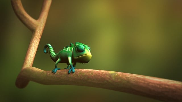 3D Animation . Chameleon