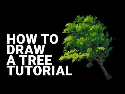 Artstation Forest Tutorial How To Draw A Tree Tutorial Custom