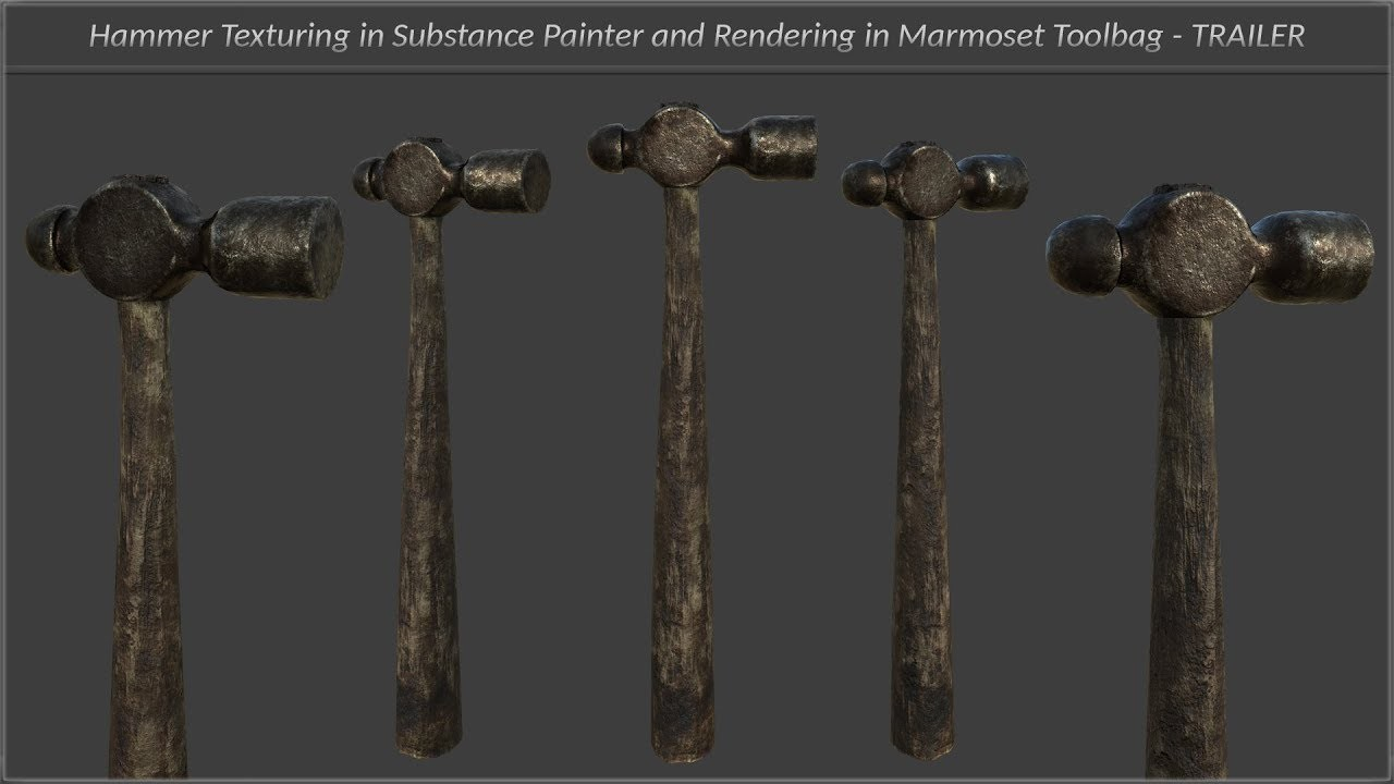 Blacksmith Hammer Texturing And Rendering Tutorial Trailer