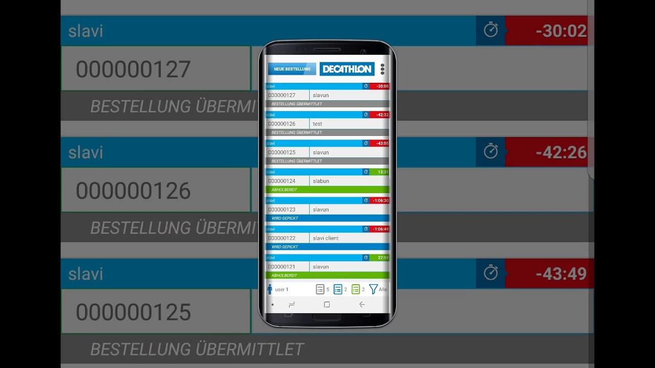 Decathlon warehouse app UI/UX