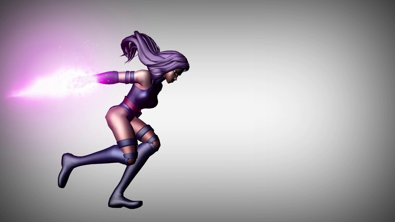 Psylocke run cycle and blade release