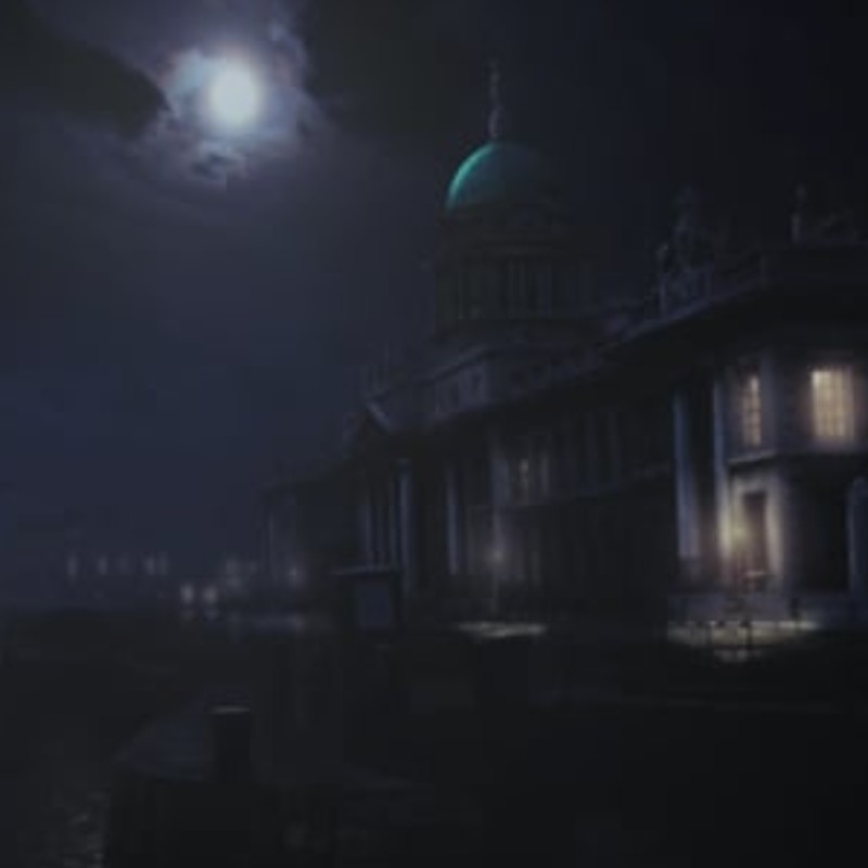 Dublin's Custom House - Color and mood experiment from historic photograph