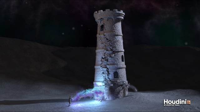 Houdini Tower Destruction
