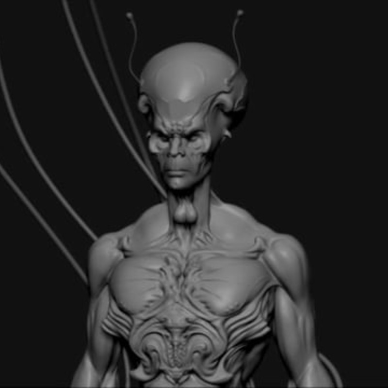 Alien _ ZBrush _ Turn Table