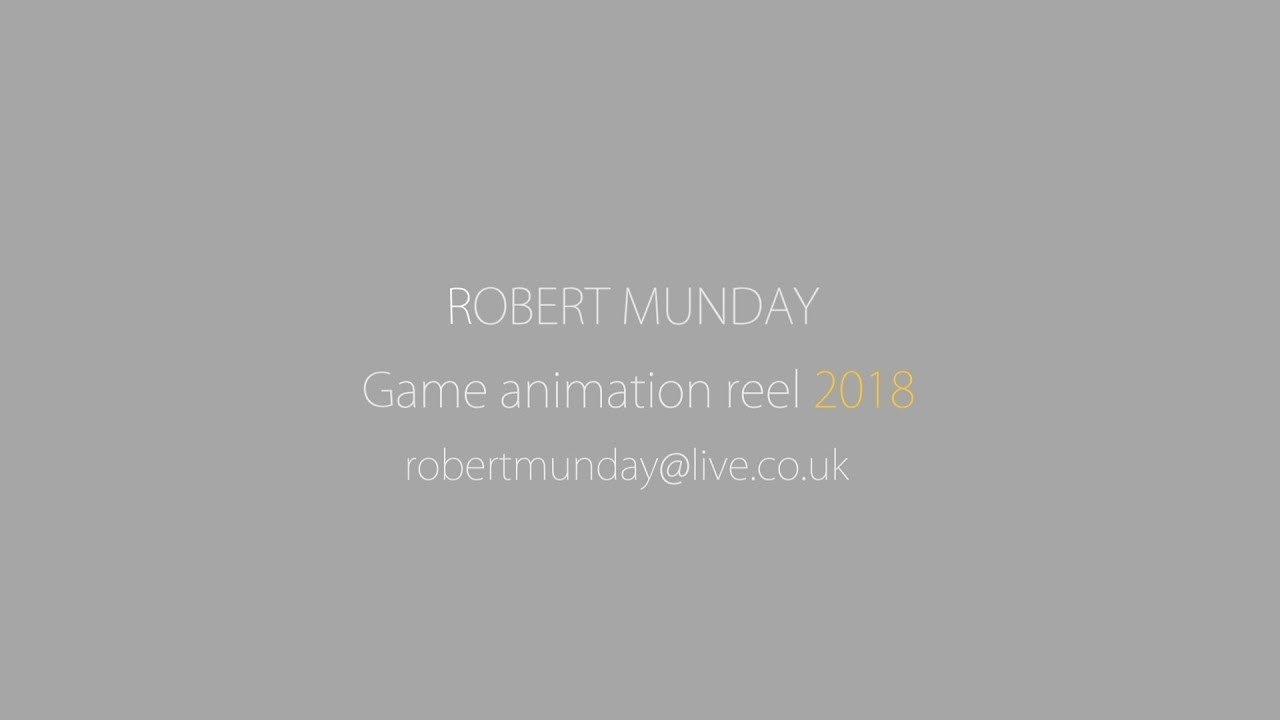 2018 Game Animation Reel