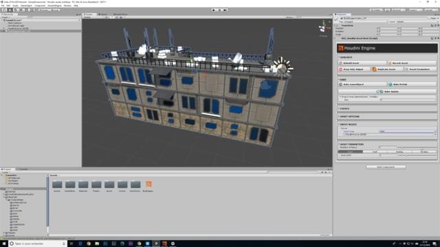 Building generator Houdini / Unity