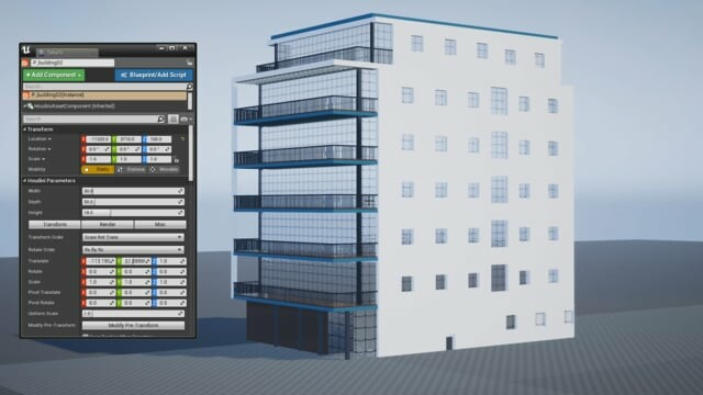Houdini for Games(Procedural Building Asset)