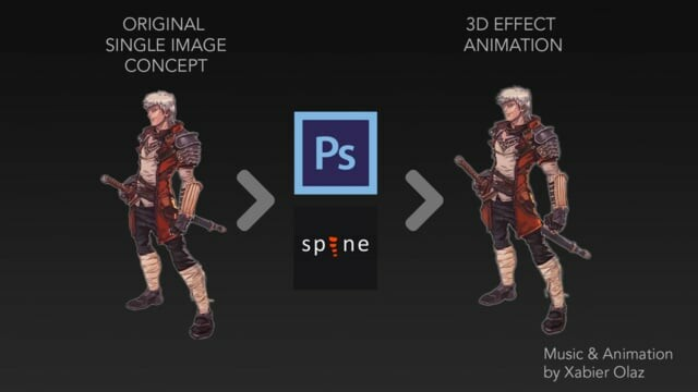 2d Concept Art to 3d Animation - Spine