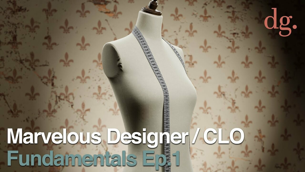 ArtStation - Marvelous Designer / CLO 3D Tutorial: Fundamentals Ep 1