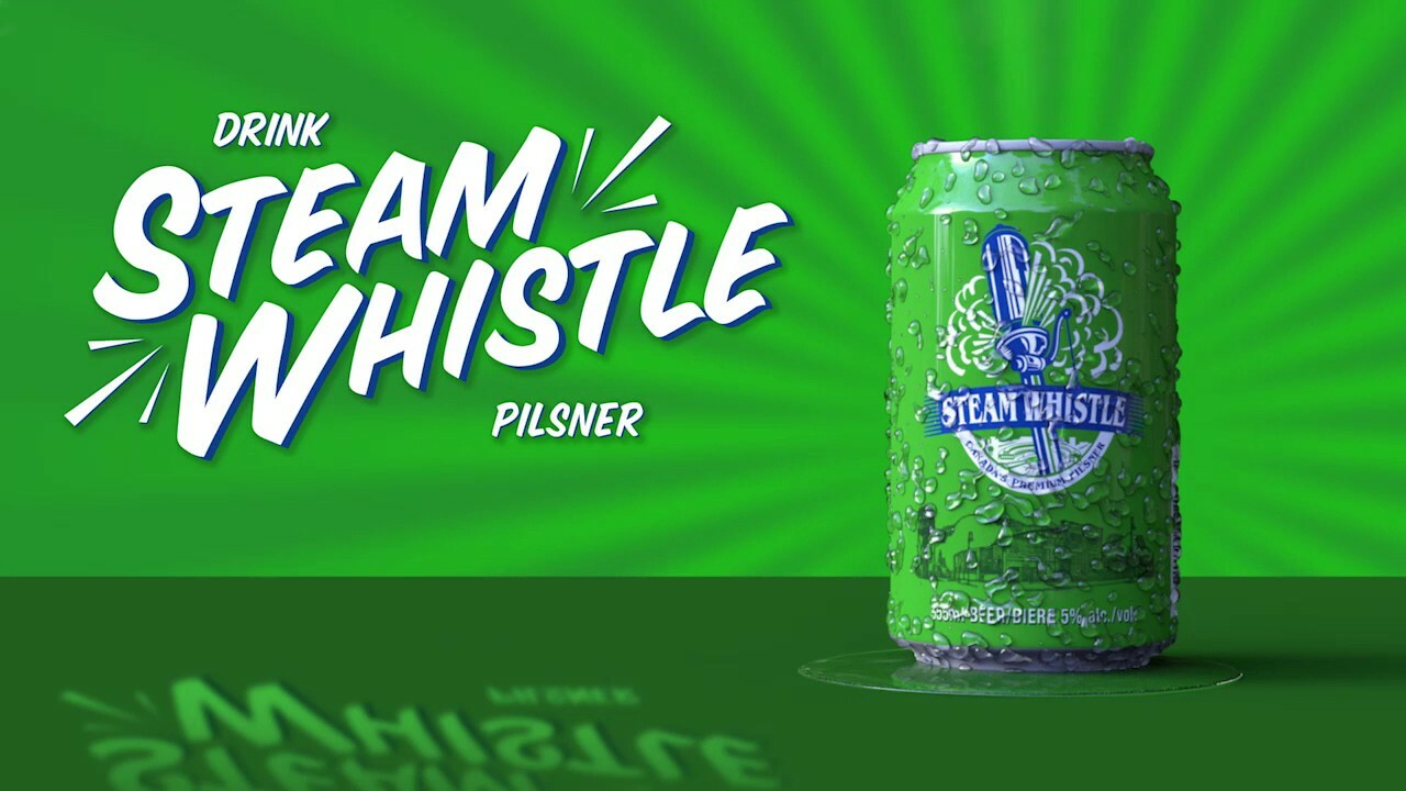Steam Whistle Beer Motion Graphic