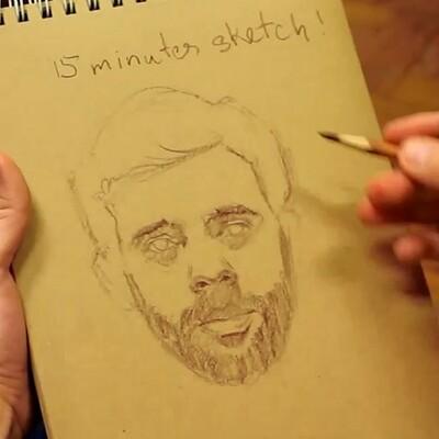 15 minutes life model sketch