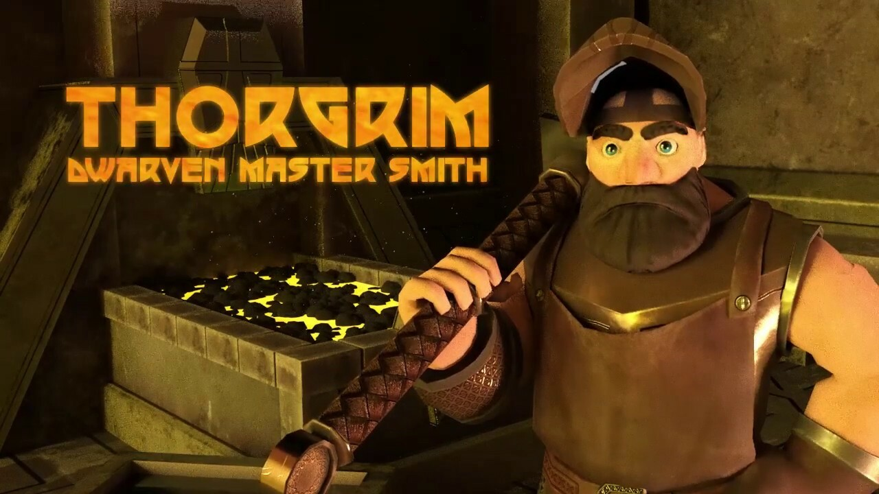Dwarven Blacksmith Animation, Character, Weapon & Environment