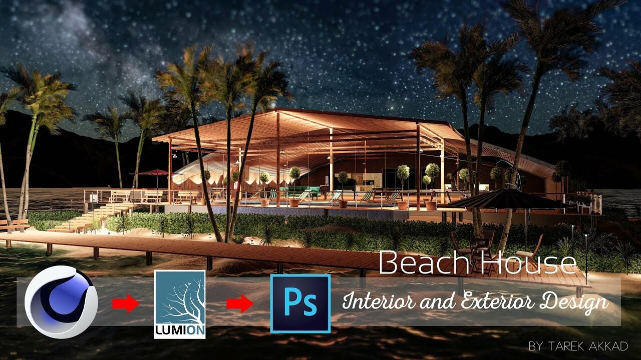 Beach House Interior and Exterior Design Make off