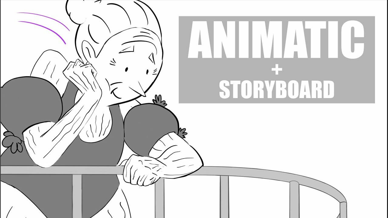 Grandma gets fired from he job - Animatic + Storyboard