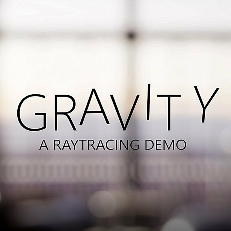 GRAVITY - Raytracing demo