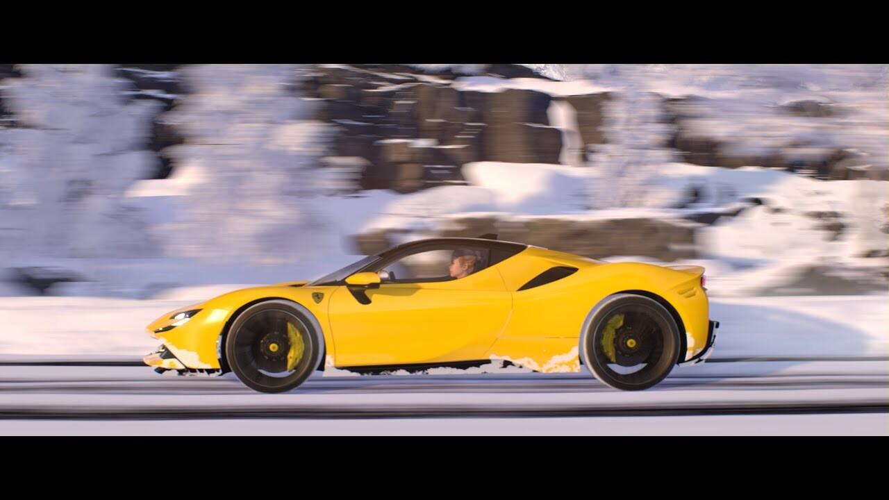 Ferrari SF90 Stradale - Snow Scene