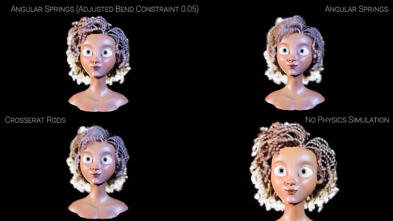 UE4 Strand Based Hair Rendering Simulation tests