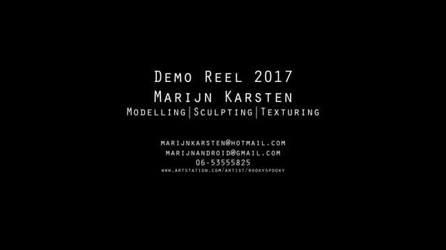 Modeling Demo Reel 2017
