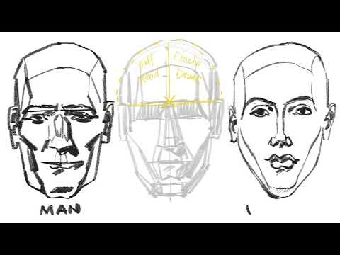 project 7: Apply the rule of opposites to the humanoid Manikin Head and draw  male and female heads.