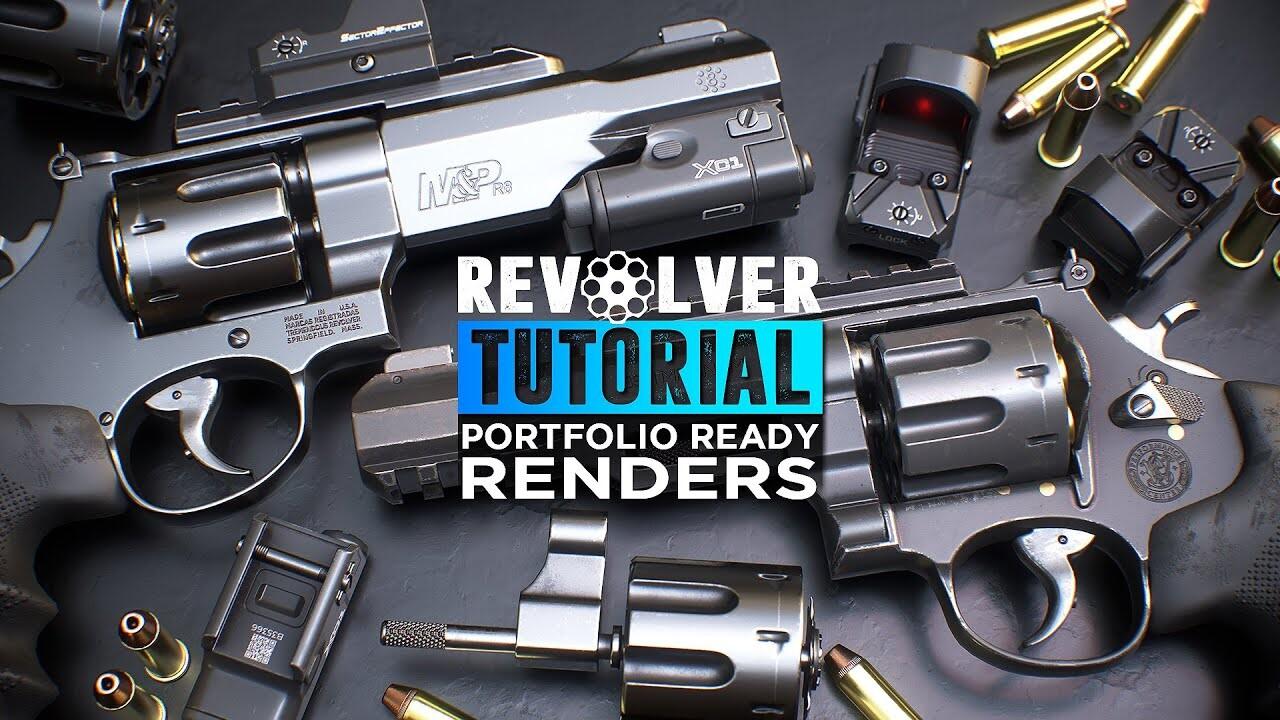 Revolver Tutorial - Portfolio ready renders in Marmoset Toolbag 4