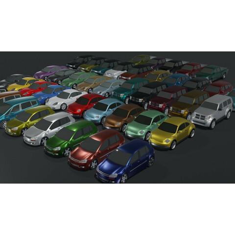 Generic Passenger Cars 3D Model Bundle