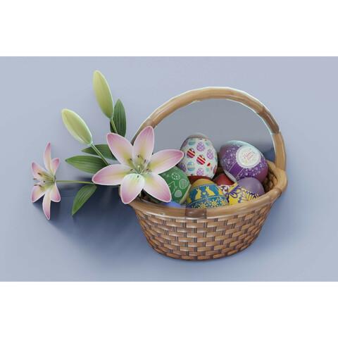Easter Basket 3D Model Bundle