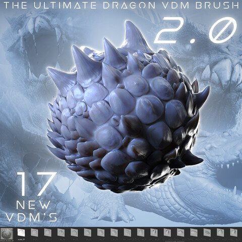 The Ultimate Dragon Scale VDM Brush Pack 1 & 2