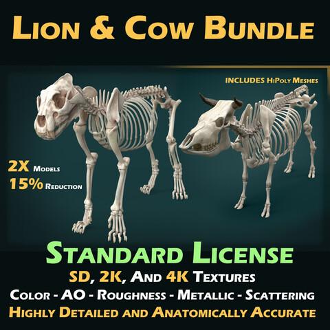 Lion & Cow Standard License Bundle