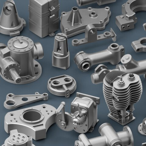 Hard Surfache Mechanical Kitbash Bundle - 165 clean Topology Parts