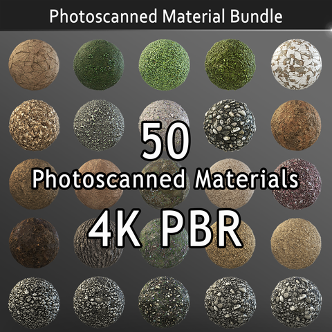 Photoscanned Nature Texture Pack - Personal License