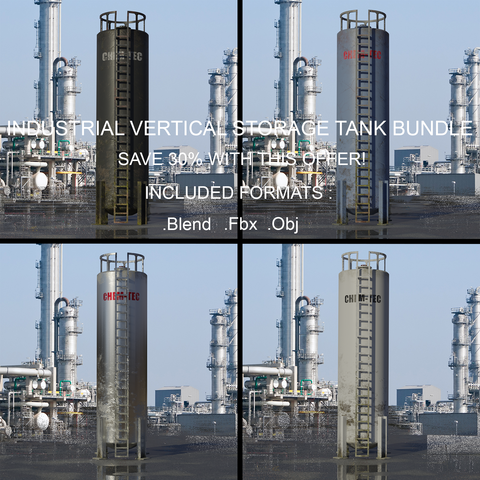 Industrial Vertical Storage Tank Bundle