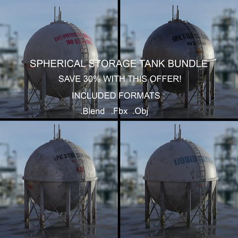 Industrial Spherical Storage Tank Bundle