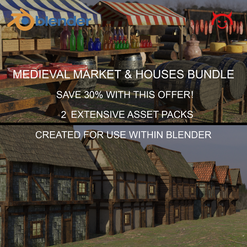 Medieval Market & Houses Bundle