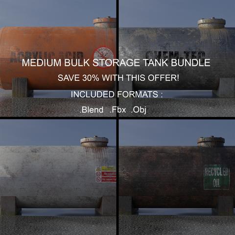 Industrial Medium Bulk Storage Tank Bundle
