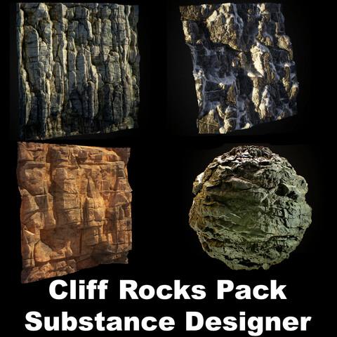 Cliff Rocks Pack - Substance Designer
