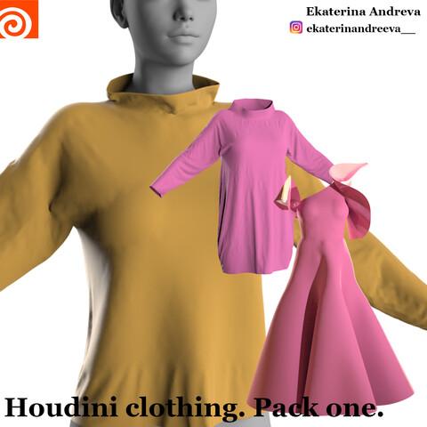 Houdini clothing. Base. Pack one.