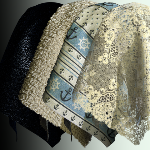 10 realistic fabric PBR materials in 4k