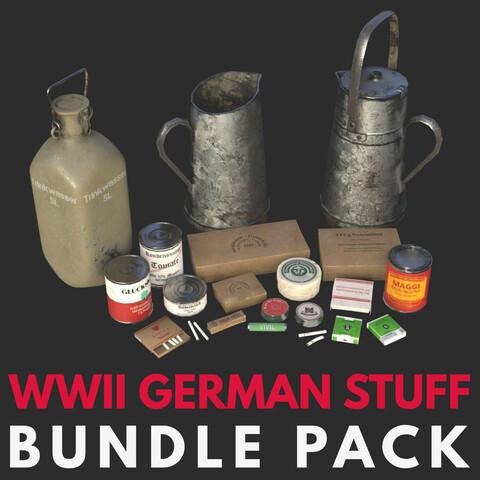 WWII German Equipments Pack