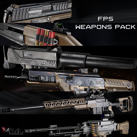 PMS - Modern FPS Weapons Pack - Studio License