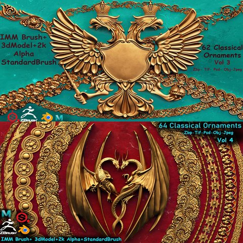 126 Ornament IMM+3DModel (Commercial)