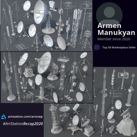 Antennas Collection 1,2,3 - 61 pieces  (Extended Commercial License)