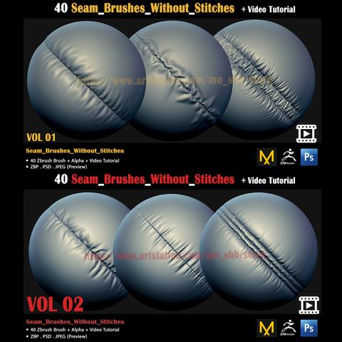2 Seam_Brushes_Without_Stitches Bundle