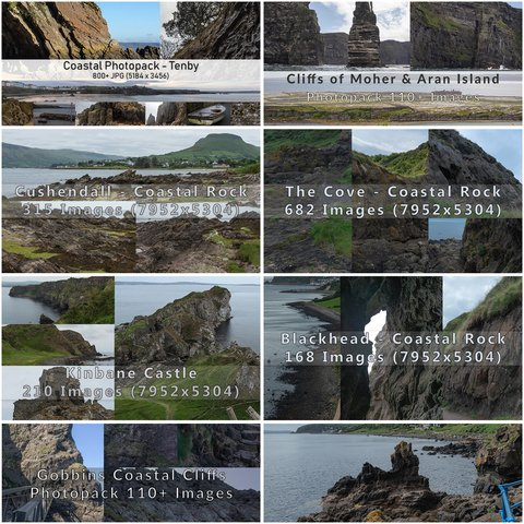 Coastal Rock Bundle - 2300+ Photos