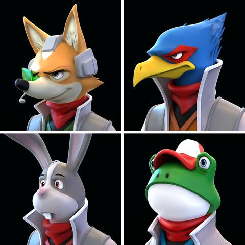 Star Fox - All 4 Busts STL Bundle