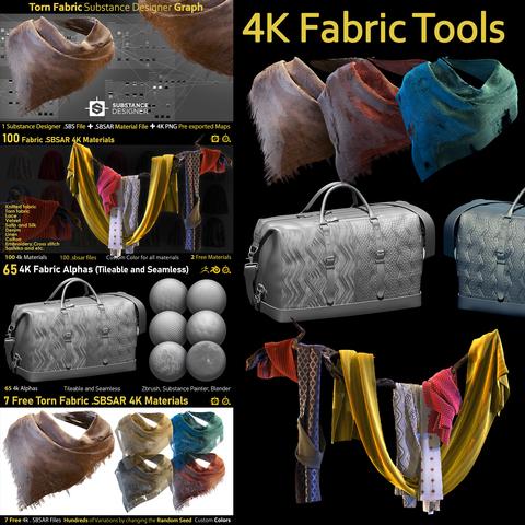 4K Fabric Tools-Alphas-Materials-Graph