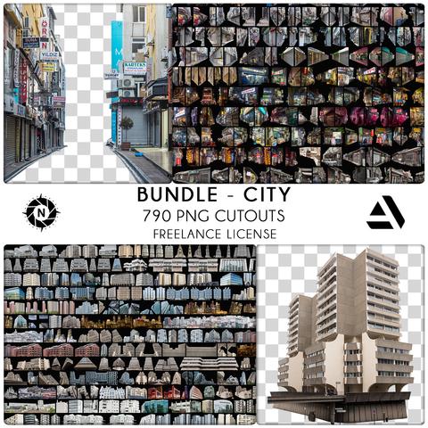 Bundle PNG Photo Packs: City - Freelance License