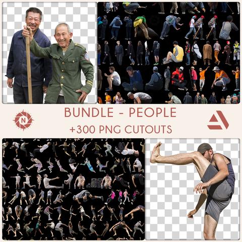 Bundle: PNG Cutouts - People - Personal License