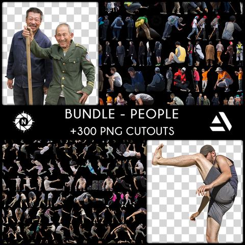 Bundle: PNG Cutouts - People - Company License