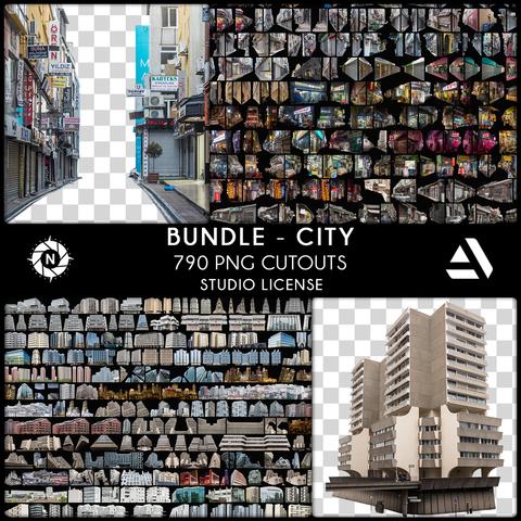 Bundle PNG Photo Packs: City - Studio License