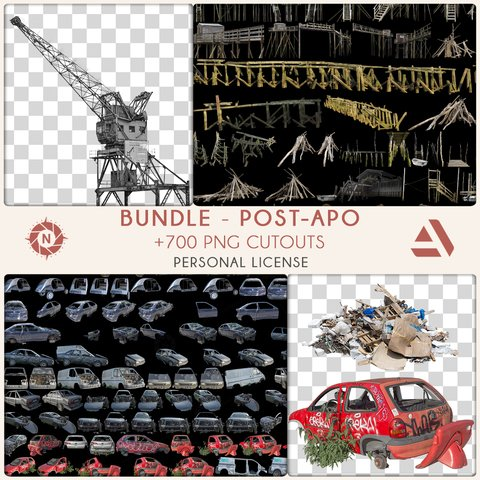Bundle PNG Photo Packs: Post-Apocalyptic - Personal License
